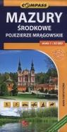 Mazury środkowe Pojezierze Mrągowskie Mapa turystyczna 1:50 000