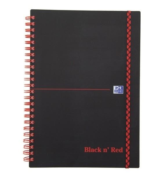 Kołozeszyt A5 Oxford w linie 70 kartek Black n' Red