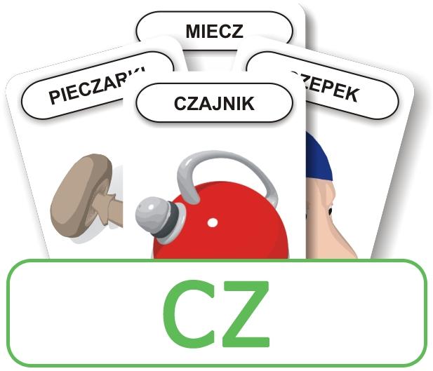 Karty: Logopedyczny Piotruś - Część III, głoska CZ