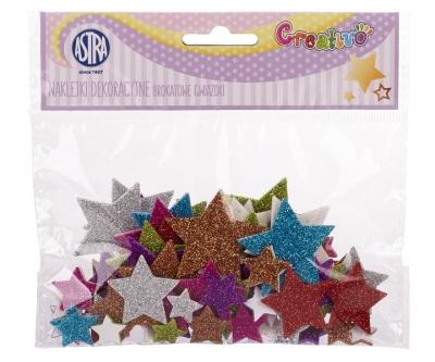 Naklejki dekoracyjne-brokatowe gwiazdki