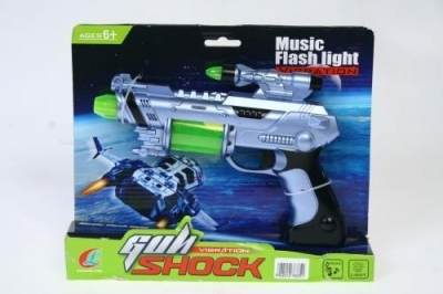 Pistolet plastikowy z dźwiękiem