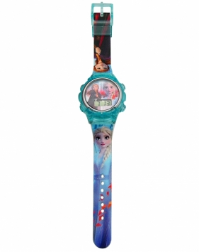 Zegarek cyfrowy, sportowy, w metalowym opakowaniu (skarbonce) - Frozen 2