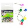 Szpilki 100 sztuk 14 mm kolorowe perła
