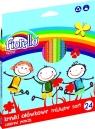 Kredki ołówkowe trójkątne soft Fiorello 24 sztuki