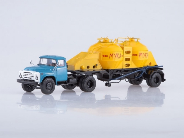 ZIL-130V1 Tractor Truck with Semitrailer K4-AMG for Flour Transport (SSM7035)