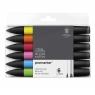 Zestaw pisaków Promarker Winsor & Newton - Vibrant Tones, 6 kolorów (0290025)
