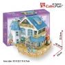 Puzzle 3D Rural Vila Domek dla lalek (P635H)