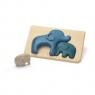 Słonie - Puzzle drewniane