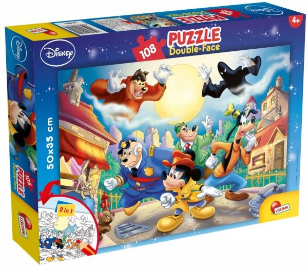Puzzle dwustronne 108 - Myszka Miki (304-48021)