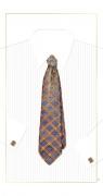 Karnet krawat niebieski 12x23 + koperta