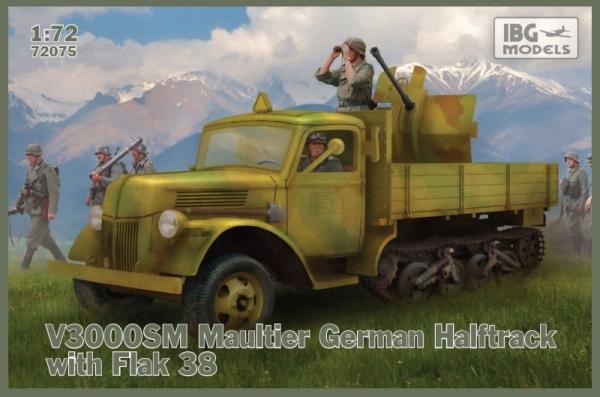 Model plastikowy Ciężarówka niemiecka półgąsienicowa Maultier V3000 SM (72075)
