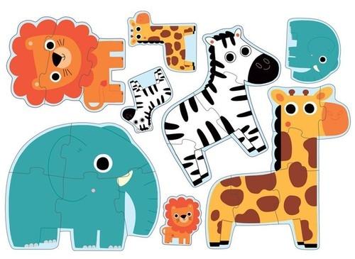 Primo Puzzle Postacie dżungla (DJ07135)