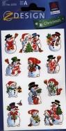 Naklejki bożonarodzeniowe Z Design Christmas Bałwanki