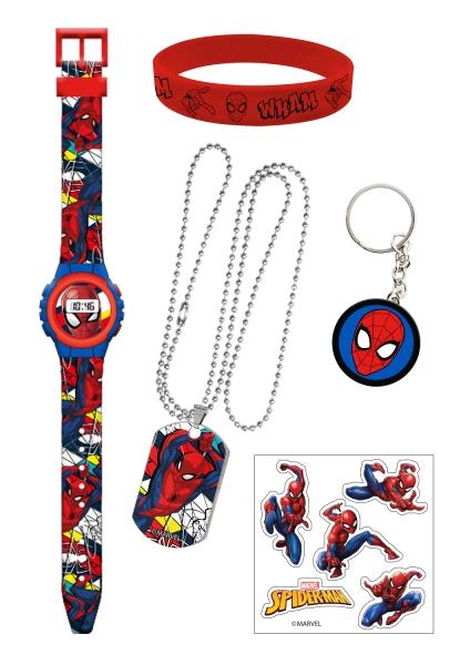 Zestaw zegarek cyfrowy z akcesoriami - Spiderman (MV15778)