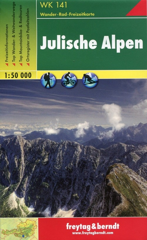 Mapa Alpy Julijskie 1:50 000