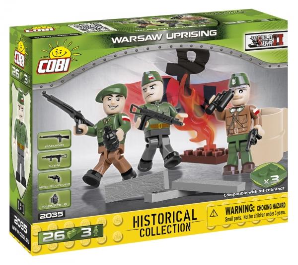 Cobi: Mała Armia WWII. Powstańcy Warszawscy - 3 figurki AK z akcesoriami (2035)
