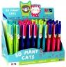 Długopis automatyczny So Many Cats 0,7 mm, niebieski (ABP20176)mix