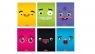Zeszyt A5/32K kratka PP Funny Faces mix