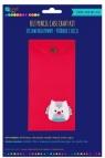 Zestaw kreatywny - piórnik z filcu - red (KSFI-140)