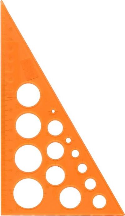 Ekierka z kółkami szablonami 19cm