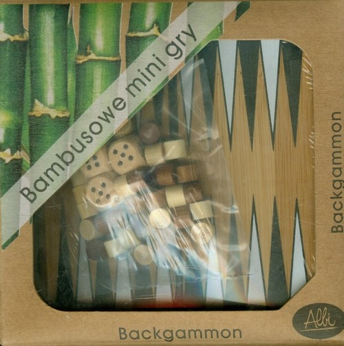 Bambusowe mini gry Backgammon