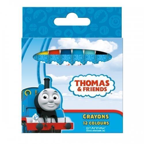 Kredki woskowe 12 kolorów Tomek i przyjaciele