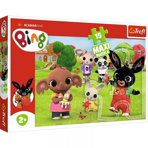 Puzzle Maxi 15: Bing z przyjaciółmi (14335)