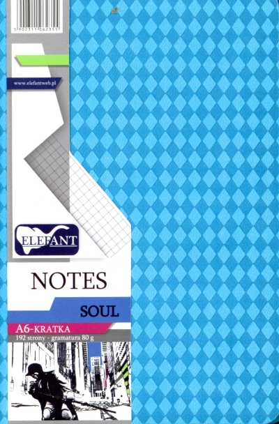 Notes Soul A6 kratka turkusowy .
