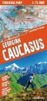 Gruzja Kaukaz Laminowana mapa trekingowa 1:75 000
