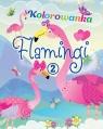 Flamingi. Kolorowanka 2