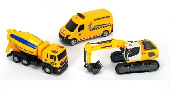 Zestaw pojazdów budowlanych, z koparką (203725002A)