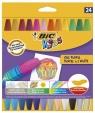 Kredki pastele olejowe Bic Kids 24 kolory