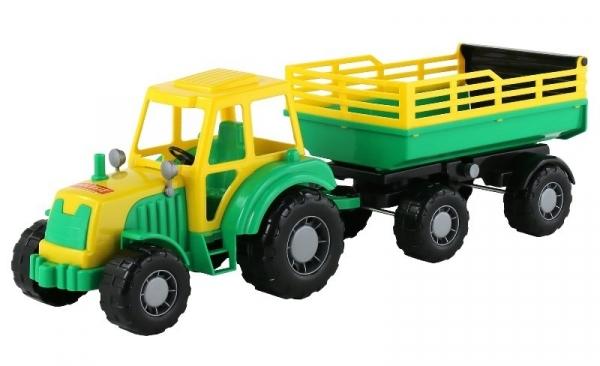 Altaj Traktor z przyczepą w siatce (35356)