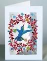 Karnet PM135 wycinany + koperta Ptak