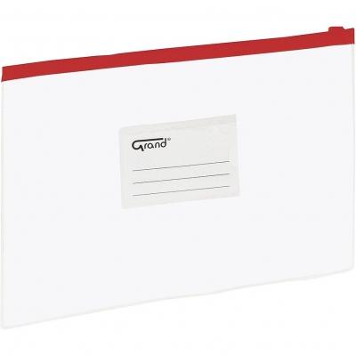 Teczka plastikowa na suwak Grand EC007B A5 kolor: czerwony (120-1470)
