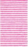 Perełki samoprzylepne 4 mm, 440 szt. pink (różowa) (GRPE-021)
