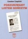 Poszukiwany listem gończym Czaplicki Czesław