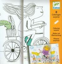 Kolorowanka z niespodzianką rower