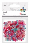 Koraliki plastikowe fasetowane mix 30g