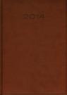 Kalendarz 2014 A4 31D Brązowy duży dzienny