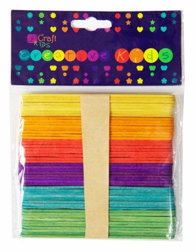 Patyczki kreatywne kolorowe 50 szt. KSPA-002