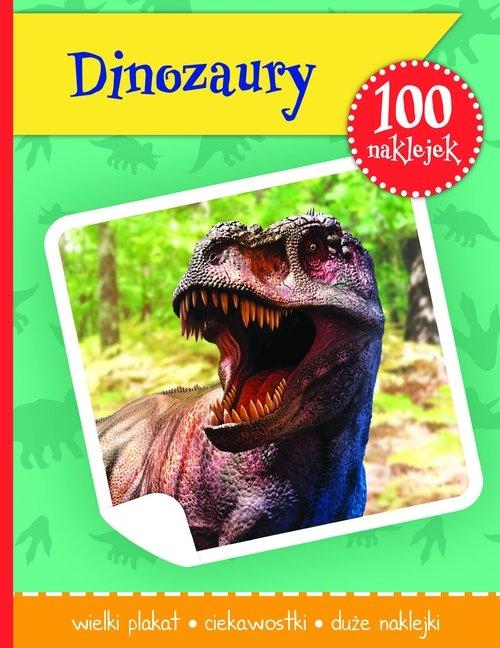 Dinozaury książeczka z plakatem i 100 naklejek różni