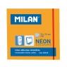 Karteczki samoprzylepne Milan Neon, pomarańczowe (85435)