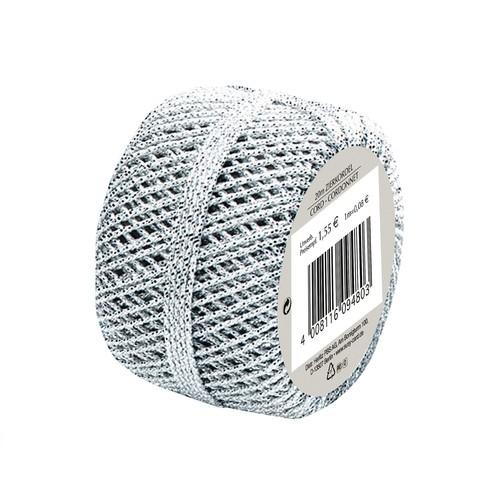Sznurek 20m - srebrny
