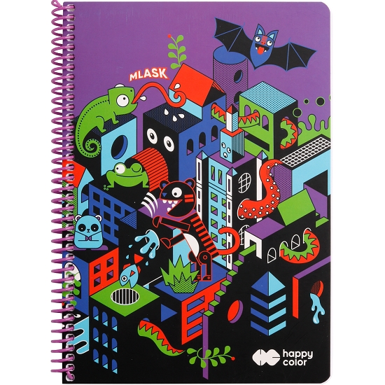 Kołobrulion Happy Color Me&City 1 A4/80k kratka (462876)