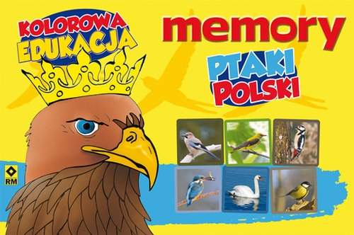 Ptaki Polski Memory Kolorowa Edukacja Jędrzejewska-Szmek Krystyna, Kryciński Michał