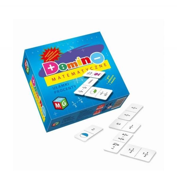 Domino matematyczne: ułamki, procenty (30035)