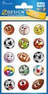Naklejki papierowe - piłki (53135)