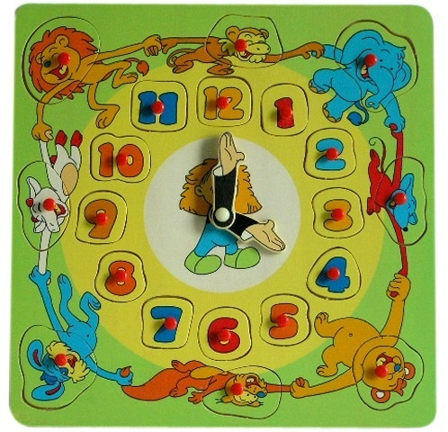 BRIMAREX Drewniany Zegar z wym. Cyframi