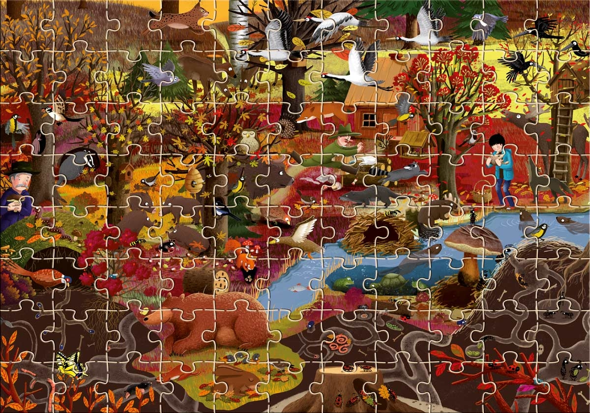 Jesień w lesie. Puzzle 88